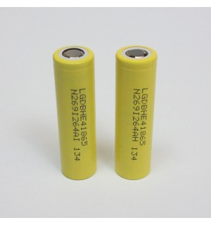 LG HE4 (INR18650HE4) 2500mAh 3.7v 18650 IMR High Drain 20A/35A Battery (Flat Top)