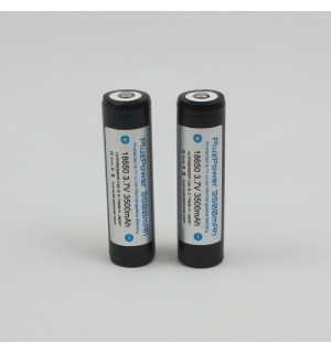 PluzPower Protected NCR18650GA 3500mAh 3.7V 18650 Li-ion 10A Battery (Button Top)