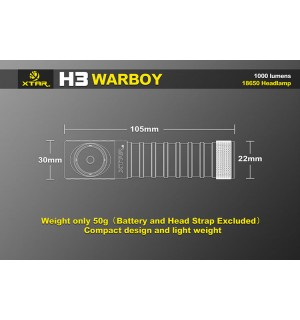 XTAR H3 Warboy Headlamp