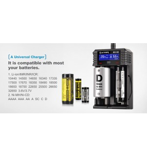 XTAR SV2 ROCKET Ultra Fast Li-ion / IMR / Ni-MH Battery Charger (0.25A / 0.5A / 1A / 2A)