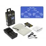 XTAR VC2 Dual Bay Li-ion IMR USB Battery Charger & Capacity Tester
