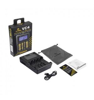 XTAR VC4 Quad Bay Li-ion IMR Ni-MH Battery Charger & Capacity Tester