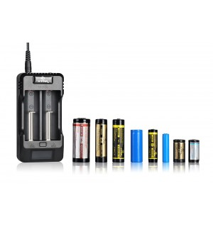 XTAR VP2 Dual Bay Multi Voltage Li-ion IMR Battery Charger
