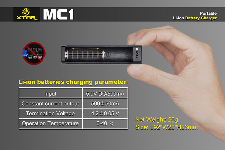 Xtar MC1 USB Battery Charger