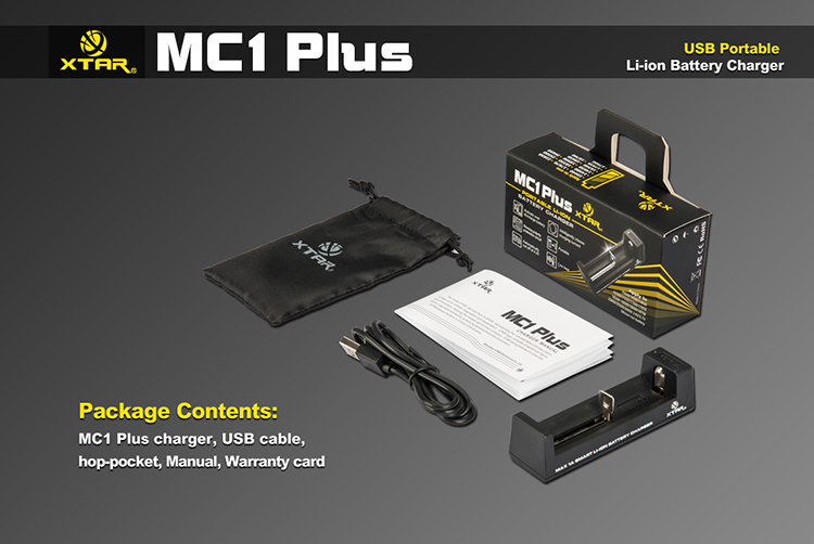Xtar MC1 Plus USB Battery Charger
