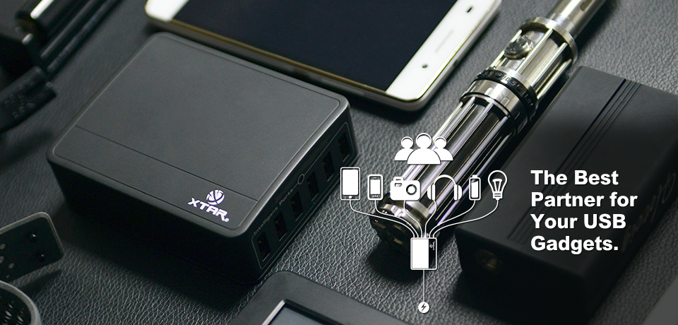 Xtar U1 SIX-U 6-Port USB Charger